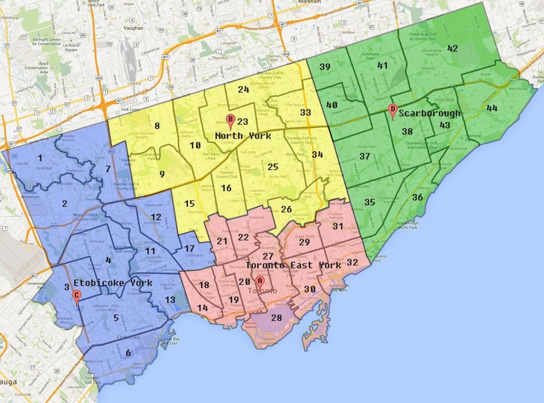 City Of Toronto Zoning Map Toronto Zoning Map Canada - Toronto canada map