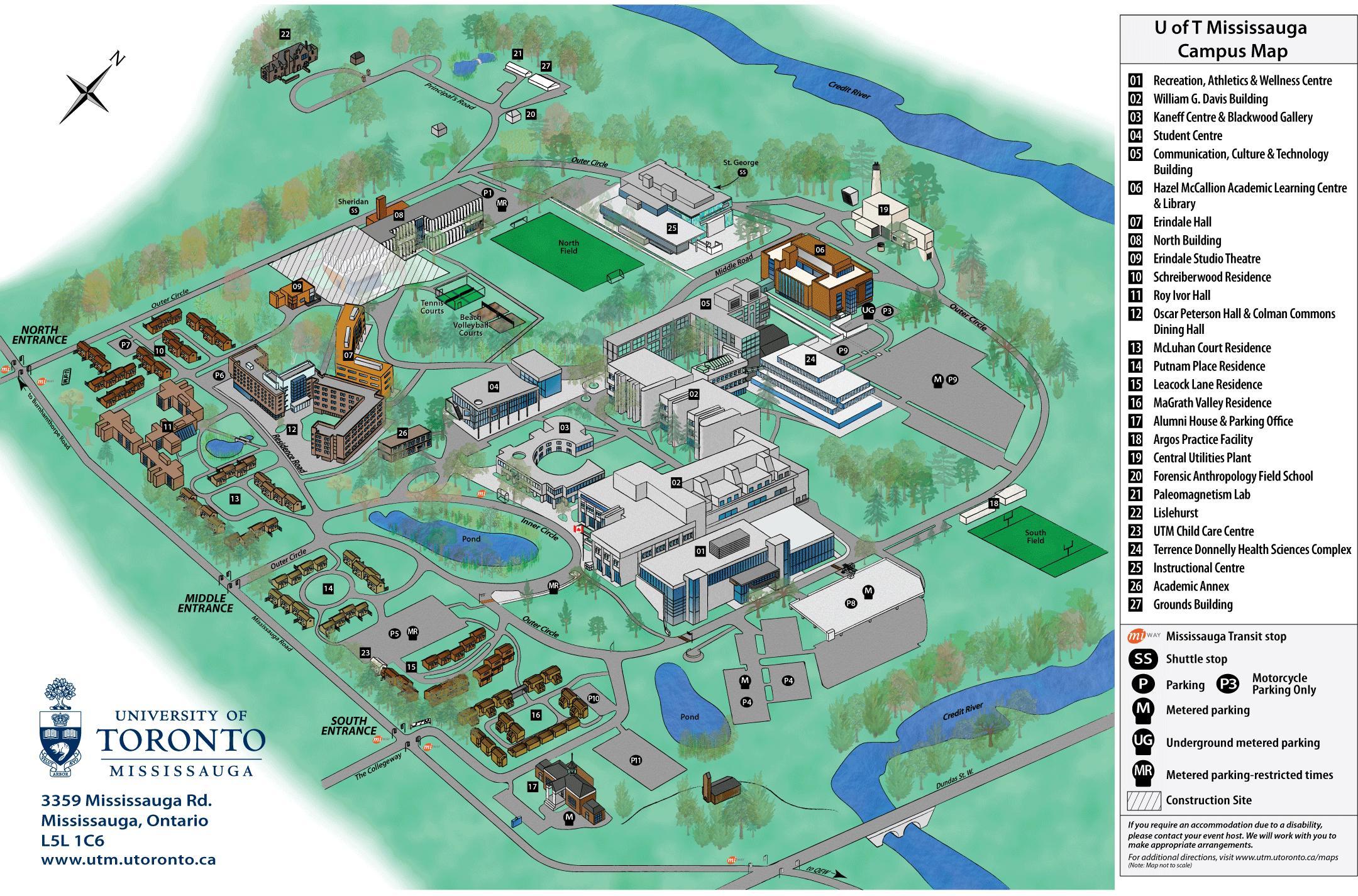 U Of T Campus Map University Of Toronto Campus Map Canada