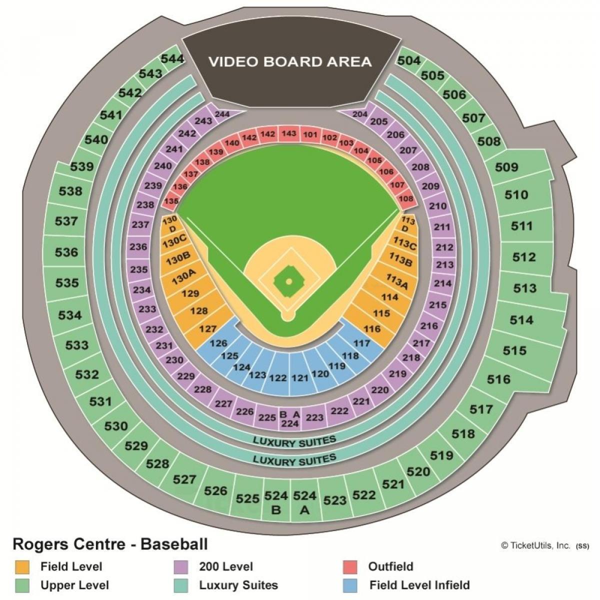 Rogers Centre Map Rogers centre map   Map of rogers centre (Canada)