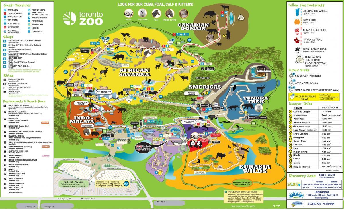 Toronto zoo map Map of Toronto zoo Canada