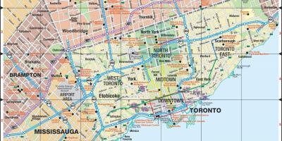 Toronto Map Maps Toronto Canada